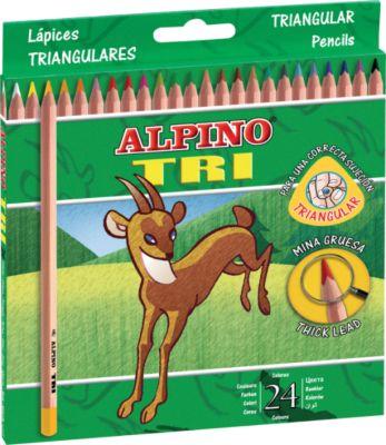 Цветные трехгранные карандаши TRI, 24 цв., артикул:5389701 - Рисование и раскрашивание