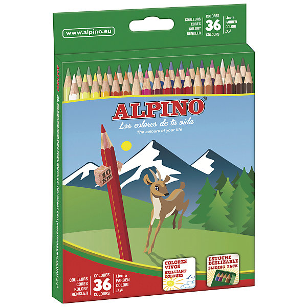 ALPINO Цветные шестигранные карандаши, 36 цв. alpino 12 150