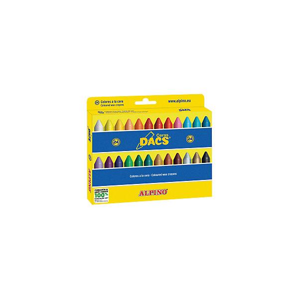 ALPINO Восковые карандаши Ceras DACS, 24 цв. alpino восковые темперные pintacolor в пластиковом корпусе