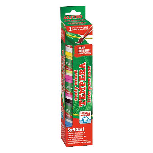 Краски темперные, 5 * 40 мл + кисточкаМасляные и восковые мелки<br>Состав: крахмал, вода, карбонат кальция, глицерин, натуральные пигменты, консерванты<br>Не содержит компонентов молока, яиц, клейковины, орехов, бобов, латекса и других потенциально аллергенных веществ (Non-Allergic)<br>Продукция сертифицирована по европейским стандартам качества и безопасности (CE, EN 71) для использования детьми от 3 лет<br>Имеет пластично-текущую консистенцию, полностью готовую к применению (чтобы приступить к рисованию достаточно лишь опустить кисть в баночку с краской)<br>Превосходно смешивается, в том числе, с водой, гуашью и акварелью. По мере приобретения навыков рисования темперой ребёнок легко научится с помощью воды менять насыщенность цветов, смешивать их и использовать другие краски на водной основе<br> Секрет популярности детских темперных красок очевиден - они безупречно адаптированы для детского применения и унаследовали традиционные преимущества обычной темперы – высокую кроющую способность, чистые, яркие и насыщенные цвета, а также исключительно хорошую адгезию, позволяющую использовать краски на любой поверхности (бумага, картон, холст, дерево, глина, камень или керамика). Уникальная кроющая способность красок обеспечивает впечатляющую выразительность рисунков. Не только специалист, но и любой, кто знаком с темперным рисованием, не станет возражать, что кроющая способность и адгезия темперных красок несопоставимо выше аналогичных характеристик гуаши и акварели<br> Краска достаточно быстро высыхает и после этого не мажется и не смывается при кратковременном соприкосновении с водой (их можно протирать от пыли). Темперные рисунки имеют красивую матово-бархатистую поверхность, устойчивую к нормальным перепадам температур, изменениям условий влажности и обладают уникальной долговечностью и светостойкостью.<br>Легко смывается с кожи, отстирывается с детской одежды и других тканей в режиме обычной стирки<br>Краски размещены в пластмассовые баночки многоразового использова