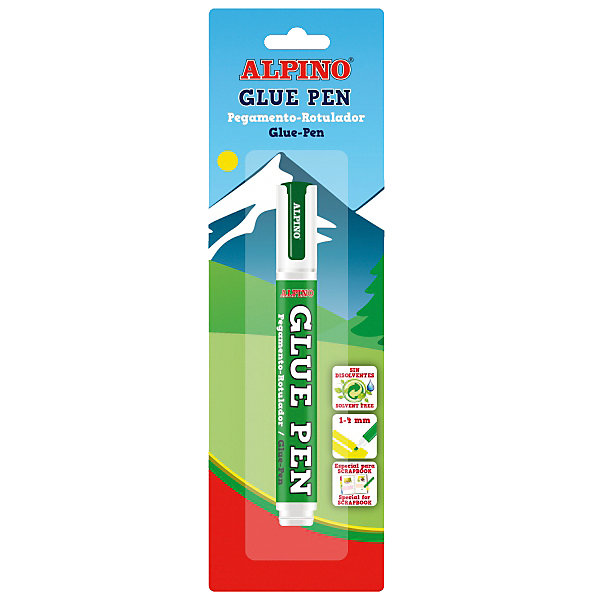 ALPINO Маркер-клей GLUE PEN, 7 мл, 1 шт. картридж cactus cs ph7400c голубой