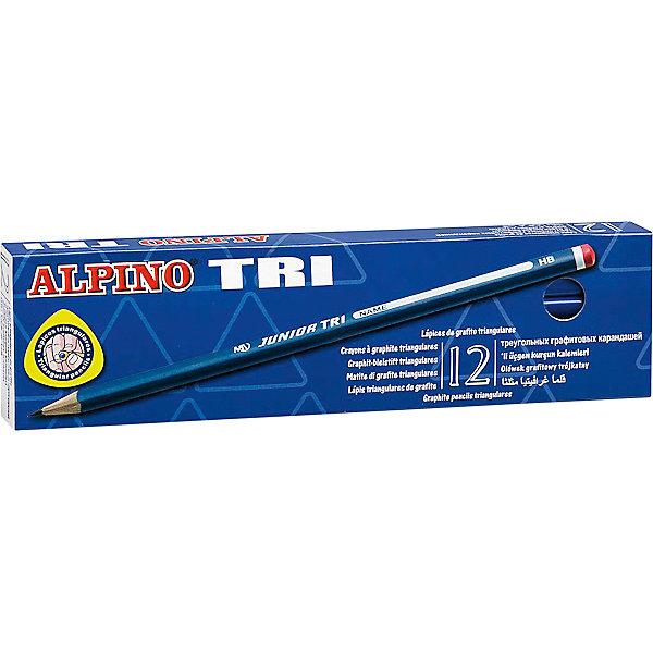 Фотография товара карандаши графитные трехгранные TRI, HB, 12 шт. (5389778)