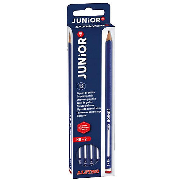 Фотография товара карандаши графитные шестигранные JUNIOR, HB, 12 шт (5389779)