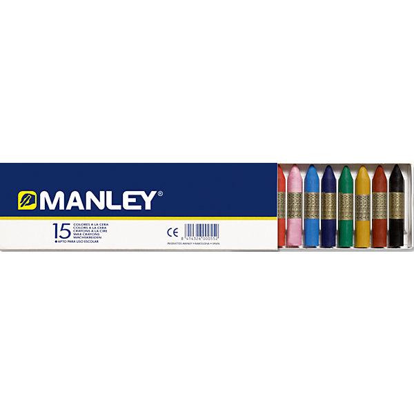 Фотография товара восковая пастель MANLEY , 15 цв. (5389781)