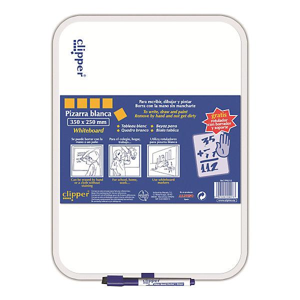 Маркерная доска, цвет белый, 35 x 25 см, 1 шт + маркерДоски и коврики для рисования<br>Комплект: доска ,маркер и губка в колпачке<br>Изготовлена из нетоксичных материалов, основа ПВХ<br>Предназначена для ежедневных записей<br>Упаковка с европетлей<br>Производитель: ALPINO (Испания)