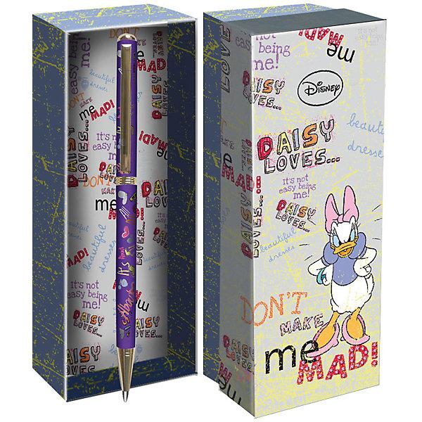Подарочная ручка, Disney Дэйзи ДакРучки<br>Подарочная ручка, Disney Дэйзи Дак<br><br>Характеристики:<br><br>• подарочная упаковка<br>• яркий дизайн<br>• тип ручки: шариковая<br>• цвет чернил: синие<br>• толщина линии: 0,7 мм<br>• материал: пластик, металл<br>• размер упаковки: 21х20х7 см<br>• вес: 125 грамм<br><br>Красивая ручка с ярким дизайном - отличный подарок для поклонников клуба Микки Мауса. Подарочная упаковка и ручка оформлены в стиле знаменитой уточки. Ручка имеет удобную форму и широкую толщину линии - 0,7 мм. Ручка изготовлена из прочного пластика.<br><br>Подарочная ручка, Disney Дэйзи Дак вы можете купить в нашем интернет-магазине.<br>Ширина мм: 70; Глубина мм: 200; Высота мм: 210; Вес г: 110; Возраст от месяцев: 84; Возраст до месяцев: 360; Пол: Женский; Возраст: Детский; SKU: 5390288;