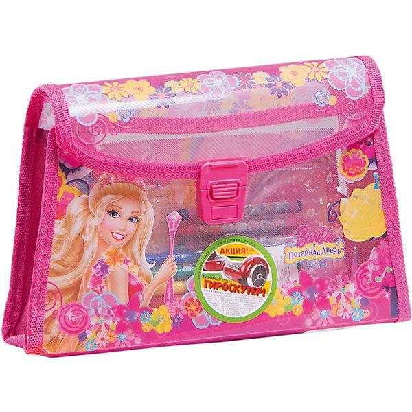 Подарочный набор Сумочка, BarbieКанцелярские наборы<br>Подарочный набор Сумочка, Barbie, Limpopo (Лимпопо)<br><br>Характеристики:<br><br>• набор для детского творчества<br>• удобная упаковка-сумочка<br>• яркие цвета<br>• в комплекте: 12 мелков, 24 фломастера, раскраска, наклейки<br>• размер упаковки: 17х7х26 см<br>• вес: 304 грамма<br><br>Рисование - неотъемлемая часть жизни каждого ребенка. Набор Сумочка состоит из фломастеров, мелков, наклеек и раскраски. Девочка сможет создать самые красочные картинки Барби и дополнить их красивыми наклейками. Все предметы упакованы в удобную сумочку, которую можно взять с собой в случае необходимости. Сумочка - отличный подарок для юных художниц!<br><br>Подарочный набор Сумочка, Barbie, Limpopo (Лимпопо) можно купить в нашем интернет-магазине.<br>Ширина мм: 260; Глубина мм: 70; Высота мм: 170; Вес г: 304; Возраст от месяцев: 48; Возраст до месяцев: 144; Пол: Женский; Возраст: Детский; SKU: 5390298;