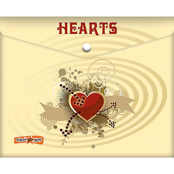 Папка-конверт под российскую тетрадь СердечкиПапки для тетрадей<br>Папка-конверт под российскую тетрадь Сердечки<br><br>Характеристики:<br><br>• Размер: 245х3х210мм<br>• Вес: 21г<br>• Толщина пластика: 180мкм<br>• Формат: А5+<br>• Крепление: на кнопке<br>• Материал: полипропилен<br><br>Красивый конверт с сердечками поможет переносить листы а4, а также любые тетради до размера А5+. Благодаря толстому пластику тетради надежно защищены от влаги или грязи. Папка закрывается на кнопку, которую легко расстегнуть самостоятельно и которая надежно удерживает тетради внутри.<br><br>Папка-конверт под российскую тетрадь Сердечки можно купить в нашем интернет-магазине.<br>Ширина мм: 245; Глубина мм: 3; Высота мм: 210; Вес г: 21; Возраст от месяцев: 48; Возраст до месяцев: 144; Пол: Женский; Возраст: Детский; SKU: 5390321;