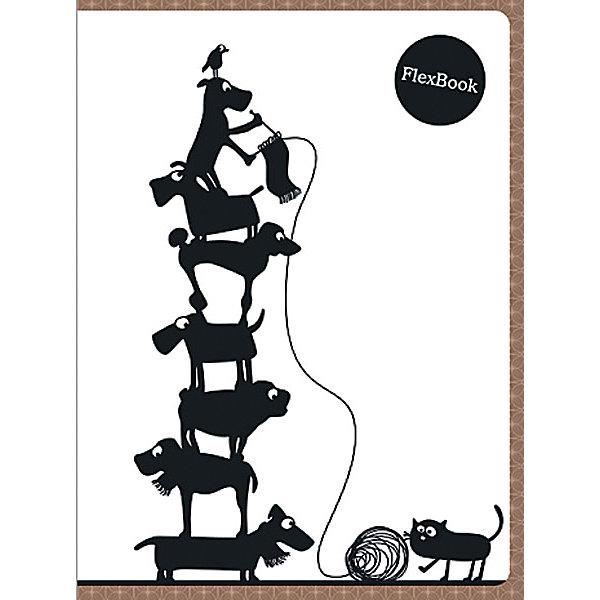 Limpopo Бежевая тетрадь А5 Flex book 80 листов, клетка