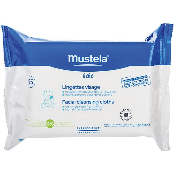 Mustela Очищающие салфетки , №25, Mustela салфетки mustela мустела бебе салфетки для лица очищающие детские 25 шт 25 штук