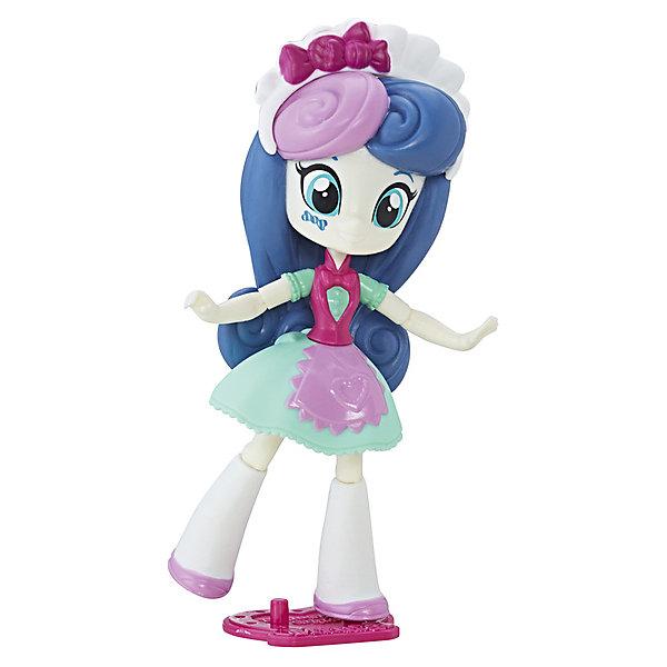 Мини-кукла Equestria Girls, Свити ДропсМини-куклы<br>Характеристики:<br><br>• возраст: 5+;<br>• материал: пластик;<br>• в комплекте: мини-кукла, подставка, аксессуар;<br>• размер игрушки: 12 см;<br>• количество шарниров: 9 шт.;<br>• габариты упаковки: 13х19х6 см.<br><br>Необычная куколка из серии «Эквестрия гелз» - героиня популярного мультсериала «My little Pony» по имени Свити Дропс. Спецагент Свити до некоторых пор называлась Бон Бон. Она одета в бирюзовое платье с розовой жилеткой, на голове красуется ободок. Волосы куклы закручены таким образом, что напоминают леденцы.<br><br>На щеке у Свити Дропс есть ее отличительная метка. Малышка появляется в мультфильме довольно редко и не входит в состав главных героинь, но фанатки любят ее за яркую внешность и красивый наряд.<br><br>Мини-кукла очень подвижна, благодаря встроенным шарнирам. В комплект входит удобная подставка, на которой кукла устойчиво закрепляется. Игрушка выполнена из высококачественного пластика.<br><br>Фигурка Свити Дропс – хороший подарок к празднику для маленьких девочек. Собрав всю коллекцию мини-кукол можно устраивать ролевые игры по мотивам мультсериала вместе с подружками.<br><br>Мини-куклу «Свити Дропс Эквестрия герлз» C0839/C2186, Hasbro, My little Pony можно приобрести в нашем интернет-магазине.<br>Ширина мм: 62; Глубина мм: 127; Высота мм: 190; Вес г: 148; Возраст от месяцев: 60; Возраст до месяцев: 144; Пол: Женский; Возраст: Детский; SKU: 5395771;