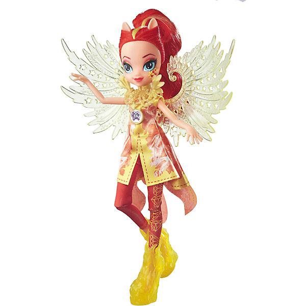 Кукла Эквестрия Герлз Легенды вечнозеленого леса Crystal Wings - Сансет ШиммерИгрушки<br>Кукла делюкс Легенда Вечнозеленого леса, с аксессуарами, Эквестрия герлз (Equestria Girls), B6479/B7534.<br><br>Характеристика: <br><br>• Материал: пластик. <br>• Размер куклы: 22 см. <br>• В комплекте кукла в одежде и обуви. <br>• Отличная детализация. <br>• Голова, руки, ноги подвижные (9 точек артикуляции). <br>• Реалистичные позы. <br>• Специальный код, с помощью которого можно разблокировать новые наряды и аксессуары в мобильном приложения MY LITTLE PONY EQUESTRIA GIRLS.<br><br>Очаровательные девочки Эквестрии приведут в восторг всех поклонниц My little Pony (Май литл Пони)! Красавица Сансет Шиммер может похвастаться копной ярко-рыжих блестящих волос! Из них получится множество удивительных причесок. Стильная обувь, аксессуары и оригинальный наряд с прозрачными крыльями делают девочку просто неотразимой! Множество точек артикуляции и отличная детализация делают игры с куклой еще увлекательнее и интереснее. <br><br>Собери всех кукол коллекции, проигрывай любимые сюжеты, придумывай свои новые истории или устрой веселую вечеринку в стиле My little Pony (Моя маленькая Пони). <br><br>Куклу делюкс Легенда Вечнозеленого леса, с аксессуарами, Эквестрия герлз (Equestria Girls), B6479/B7534, можно купить в нашем интернет-магазине.<br>Ширина мм: 50; Глубина мм: 190; Высота мм: 305; Вес г: 290; Возраст от месяцев: 60; Возраст до месяцев: 144; Пол: Женский; Возраст: Детский; SKU: 5395774;