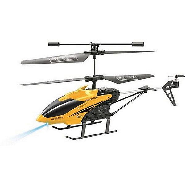 Вертолет на р/у Ветерок, желтый, Властелин небесРадиоуправляемые вертолёты<br>Вертолет на р/у Ветерок, желтый, Властелин небес<br><br>Характеристики:<br><br>• летает вверх, вниз, влево и вправо<br>• поворачивается, вращается и зависает в воздухе<br>• яркий прожектор<br>• встроенный гироскоп<br>• устойчив к повреждениям<br>• время игры: 7 минут<br>• время зарядки: 30 минут<br>• размер игрушки: 23х5х12 см<br>• размер пульта: 13х11х5 см<br>• радиус действия: 10 метров<br>• в комплекте: вертолет, пульт управления, зарядное устройство, инструкция<br>• батарейки: АА - 6 шт. (не входят в комплект)<br>• размер упаковки: 44х17х8 см<br>• вес: 540 грамм<br>• цвет: желтый<br><br>Вертолет Ветерок - прекрасный подарок для детей и взрослый. Вертолет управляется с помощью пульта и умеет летать вправо, влево, вверх и вниз. Ветерок разворачивается, вращается, а благодаря встроенному гироскопу, парит в воздухе. Прочная конструкция защищает игрушку от повреждений при случайных падениях. Яркий светящийся прожектор освещает путь вертолета в темноте. Выглядит это очень завораживающе! Время работы игрушки при полной зарядке около 10 минут. Зарядите вертолет в течение получайся и наслаждайтесь прекрасным 3D полетом Ветерка!<br>Для работы необходимы 6 батареек АА (не входят в комплект).<br><br>Вертолет на р/у Ветерок, желтый, Властелин небес вы можете купить в нашем интернет-магазине.<br>Ширина мм: 75; Глубина мм: 430; Высота мм: 170; Вес г: 575; Возраст от месяцев: 144; Возраст до месяцев: 2147483647; Пол: Мужской; Возраст: Детский; SKU: 5397104;