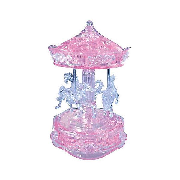 Crystal Puzzle Кристаллический пазл 3D Розовая карусель, Crystal Puzzle iq puzzle пазл 3d погрузчик 53 детали