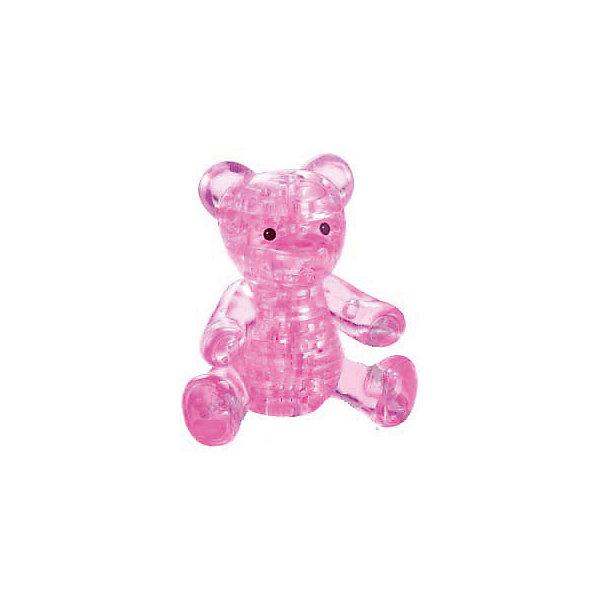 Crystal Puzzle Кристаллический пазл 3D Розовый мишка, Crystal Puzzle metal diy nano 3d puzzle model tiger tank kids diy craft 3d metal model puzzles 3d solid jigsaw puzzle