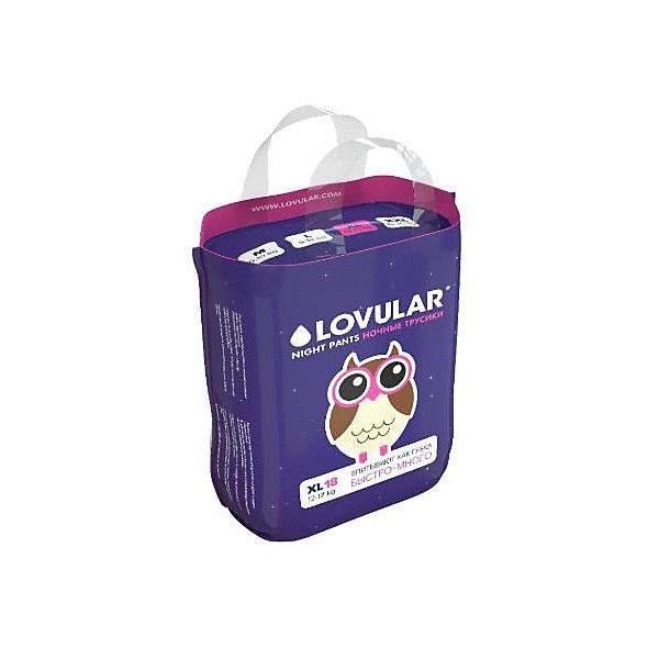 Lovular Трусики-подгузники Lovular Night XL 12-17 кг, 18 шт подгузники lovular hot wind xs 2 5 кг 22 шт