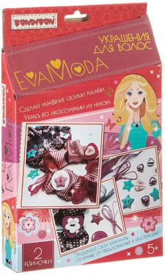 Bondibon Набор для творчества Украшения для волос Eva Moda, Bondibon набор bondibon суперфутбол вв2873