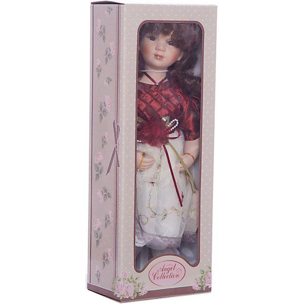 Фарфоровая кукла Венди, 40 см, Angel CollectionБренды кукол<br>Фарфоровая кукла Венди, 40 см, Angel Collection.<br><br>Характеристики:<br><br>• Высота куклы: 40 см.<br>• Материал: фарфор, текстиль<br>• Упаковка: картонная коробка блистерного типа<br><br>Фарфоровая кукла «Венди», Angel Collection изготовлена с большим вниманием к мелким деталям, благодаря этому она очень красива и привлекательна. Кудрявые волосы куклы выглядят как настоящие, а блеск в глазах, которого производитель добился благодаря специальному стеклу в составе, делает Венди живой. Кукла одета в красивое платье с пышной юбочкой, на ногах – туфельки, в руках - зонтик. Кукла установлена на специальную подставку. <br><br>Фарфоровая красавица Венди - это не просто игрушка, а также украшение для интерьера или ценный экспонат коллекции. Каждая кукла в серии Angel Collection, обладает неповторимым образом - принцессы, феи, маленькие девочки, роскошные невесты и т.д. Изысканные наряды и очаровательная матовость фарфора превращают этих кукол в настоящее произведение искусства. Куклы Angel Collection сделаны из уникальной голубой глины, добываемой только в провинции Tai-Nan Shin, Тайвань.<br><br>Фарфоровую куклу Венди, 40 см, Angel Collection можно купить в нашем интернет-магазине.<br>Ширина мм: 160; Глубина мм: 420; Высота мм: 95; Вес г: 833; Возраст от месяцев: 36; Возраст до месяцев: 2147483647; Пол: Женский; Возраст: Детский; SKU: 5400286;
