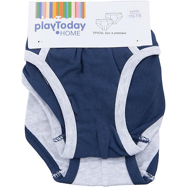 PlayToday Трусы для мальчика, 2 шт. PlayToday трусы для мальчика playtoday истории улиц home цвет темно синий светло серый красный 2 шт 385003 размер 98 104