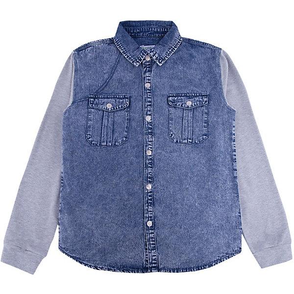 Рубашка джинсовая для мальчика ScoolБлузки и рубашки<br>Характеристики товара:<br><br>• цвет: синий/серый<br>• состав: 80% хлопок, 20% полиэстер<br>• рукава из мягкого трикотажа<br>• отложной воротник<br>• застежка: кнопки<br>• эластичные манжеты<br>• карманы на груди<br>• страна бренда: Германия<br>• страна производства: Китай<br><br>Рубашка с длинным рукавом для мальчика Scool. Эффектная джинсовая рубашка для мальчика будет актуальна в детском гардеробе. Практична и очень удобна для повседневной носки. Ткань  мягкая и приятная на ощупь, не раздражает нежную детскую кожу.<br><br>Сорочку для мальчика от известного бренда Scool можно купить в нашем интернет-магазине.<br>Ширина мм: 190; Глубина мм: 74; Высота мм: 229; Вес г: 236; Цвет: белый; Возраст от месяцев: 144; Возраст до месяцев: 156; Пол: Мужской; Возраст: Детский; Размер: 158,134,164,152,146,140; SKU: 5406578;