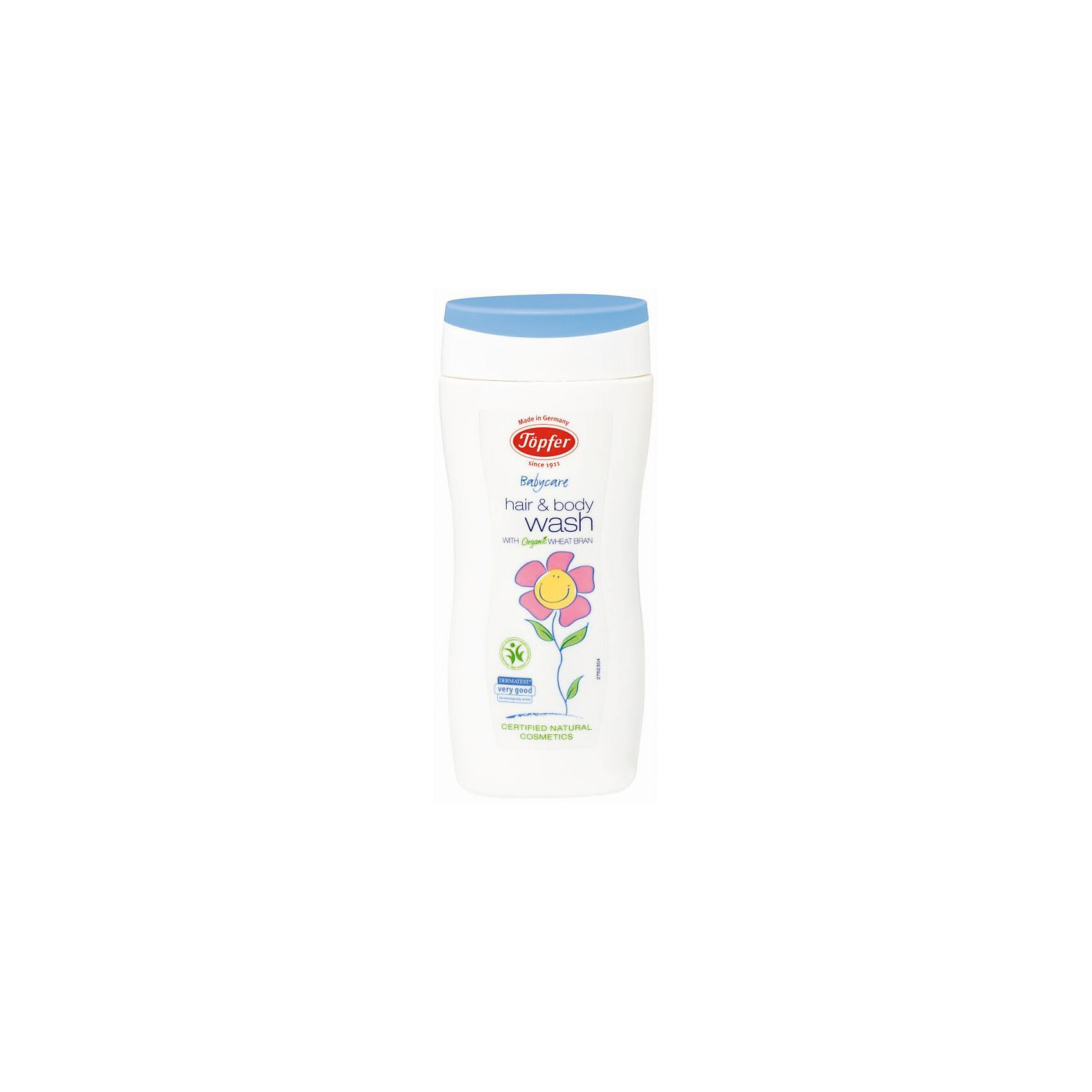 Шампунь-гель для мытья волос и тела детский 200мл, Topfer