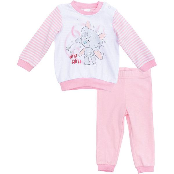 Пижама для девочки PlayTodayКомплекты<br>Характеристики товара:<br><br>• цвет: розовый<br>• состав: 100% хлопок<br>• комплектация: кофточка, брюки<br>• дышащий материал<br>• длинные рукава<br>• кнопки для удобства надевания<br>• пояс брюк - мягкая резинка<br>• комфортная посадка<br>• коллекция: весна-лето 2017<br>• страна бренда: Германия<br>• страна производства: Китай<br><br>Популярный бренд PlayToday выпустил новую коллекцию! Вещи из неё продолжают радовать покупателей удобством, стильным дизайном и продуманным кроем. Дети носят их с удовольствием. PlayToday - это линейка товаров, созданная специально для детей. Дизайнеры учитывают новые веяния моды и потребности детей. Порадуйте ребенка обновкой от проверенного производителя!<br>Эта модель обеспечит ребенку комфорт благодаря качественному материалу и удобному крою. Отличный вариант детской одежды - она не трет и давит, не ограничивает свободу движений! Выглядит стильно и аккуратно.<br><br>Комплект для девочки от известного бренда PlayToday можно купить в нашем интернет-магазине.<br>Ширина мм: 157; Глубина мм: 13; Высота мм: 119; Вес г: 200; Цвет: белый; Возраст от месяцев: 6; Возраст до месяцев: 9; Пол: Женский; Возраст: Детский; Размер: 74,68,62,56; SKU: 5408591;