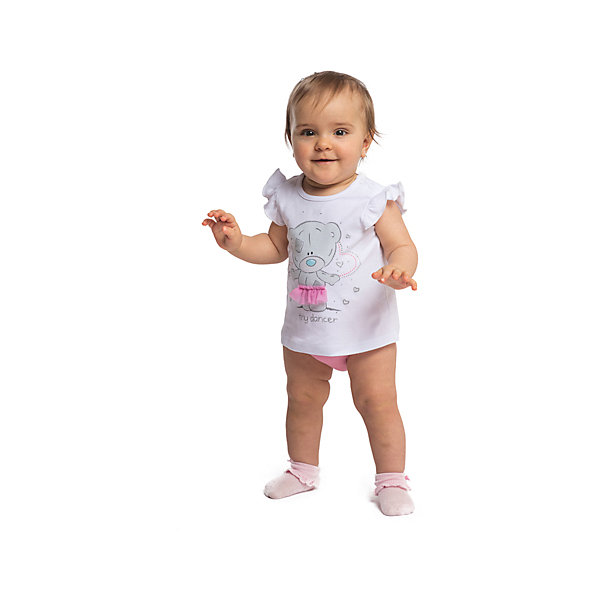 Комплект для девочки PlayTodayКомплекты<br>Характеристики товара:<br><br>• цвет: разноцветный<br>• состав: 100% хлопок<br>• комплектация: майка, трусы<br>• дышащий материал<br>• рукава-крылышки<br>• кнопки на майке для удобства надевания<br>• пояс трусов - мягкая резинка<br>• комфортная посадка<br>• коллекция: весна-лето 2017<br>• страна бренда: Германия<br>• страна производства: Китай<br><br>Популярный бренд PlayToday выпустил новую коллекцию! Вещи из неё продолжают радовать покупателей удобством, стильным дизайном и продуманным кроем. Дети носят их с удовольствием. PlayToday - это линейка товаров, созданная специально для детей. Дизайнеры учитывают новые веяния моды и потребности детей. Порадуйте ребенка обновкой от проверенного производителя!<br>Эта модель обеспечит ребенку комфорт благодаря качественному материалу и удобному крою. Отличный вариант детской одежды - она не трет и давит, не ограничивает свободу движений! Выглядит стильно и аккуратно.<br><br>Комплект для девочки от известного бренда PlayToday можно купить в нашем интернет-магазине.<br>Ширина мм: 157; Глубина мм: 13; Высота мм: 119; Вес г: 200; Цвет: белый; Возраст от месяцев: 6; Возраст до месяцев: 9; Пол: Женский; Возраст: Детский; Размер: 74,68,62,56; SKU: 5408596;