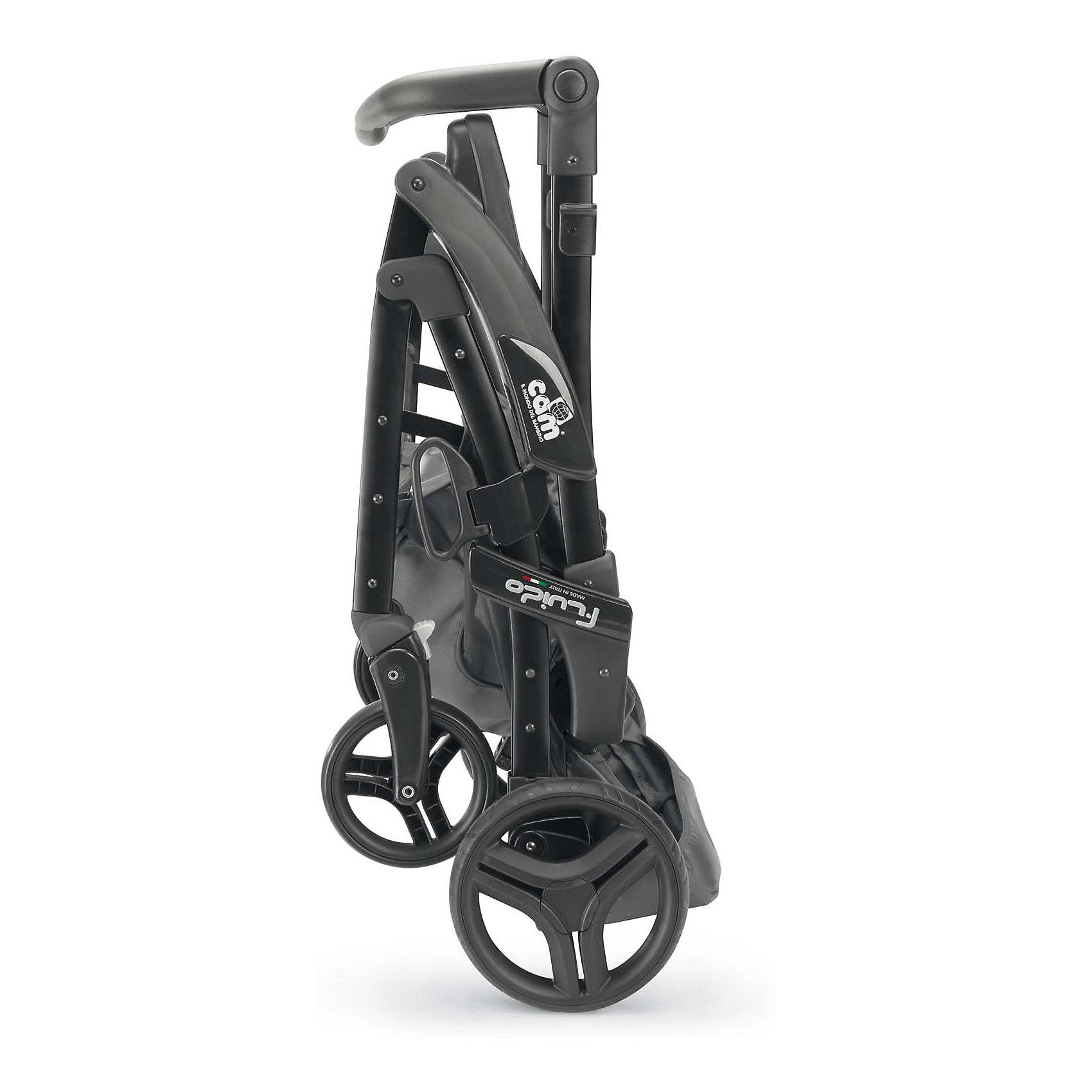 Прогулочная коляска CAM Fluido Allegria, темный крем/черный