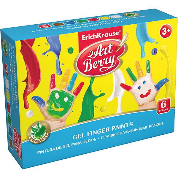 Купить Пальчиковые краски ArtBerry с Алоэ Вера, 6 цветов по 35мл, Erich Krause, Россия, Унисекс