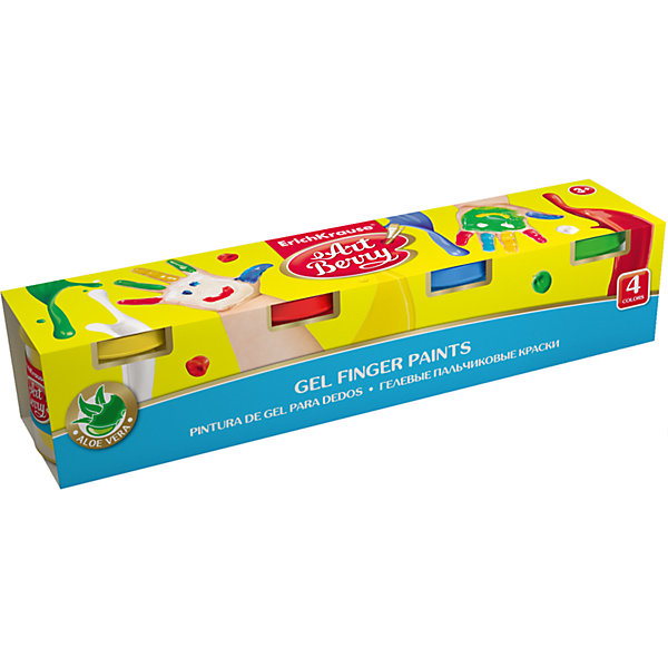 Erich Krause Пальчиковые краски ArtBerry с Алоэ Вера, 4 цвета по 100мл краски матрикс купить москва