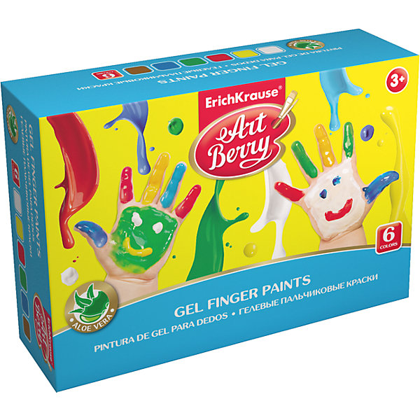 Erich Krause Пальчиковые краски ArtBerry с Алоэ Вера, 6 цветов по 100мл краски матрикс купить москва