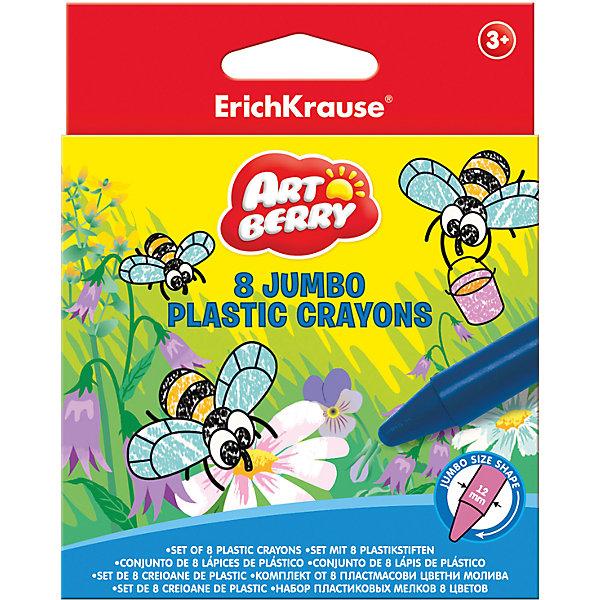 Фотография товара пластиковые мелки ArtBerry jumbo, 8 цветов (5409245)
