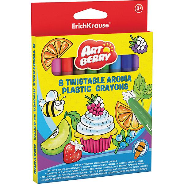 Пластиковые мелки ArtBerry twist Aroma, 12 цветовМелки<br>Характеристики товара:<br><br>• материал упаковки: пластик <br>• пластиковый корпус с выкручивающимся механизмом<br>• длина: 12 см<br>• ароматизированные<br>• возраст: от 3 лет<br>• вес: 104 г<br>• габариты упаковки: 13,8х16х1,5 см<br>• страна производитель: Китай<br><br>Ароматизированные мелки – улучшенная версия обычных мелков в пластиковой упаковке. Основная часть мелка выдвигается по мере израсходования рабочей части. Удобная треугольная форма карандаша уверенно сидит в маленькой детской ручке.<br><br>Пластиковые мелки ArtBerry twist Aroma, 12 цветов можно купить в нашем интернет-магазине.<br>Ширина мм: 138; Глубина мм: 160; Высота мм: 15; Вес г: 104; Возраст от месяцев: 36; Возраст до месяцев: 2147483647; Пол: Унисекс; Возраст: Детский; SKU: 5409247;