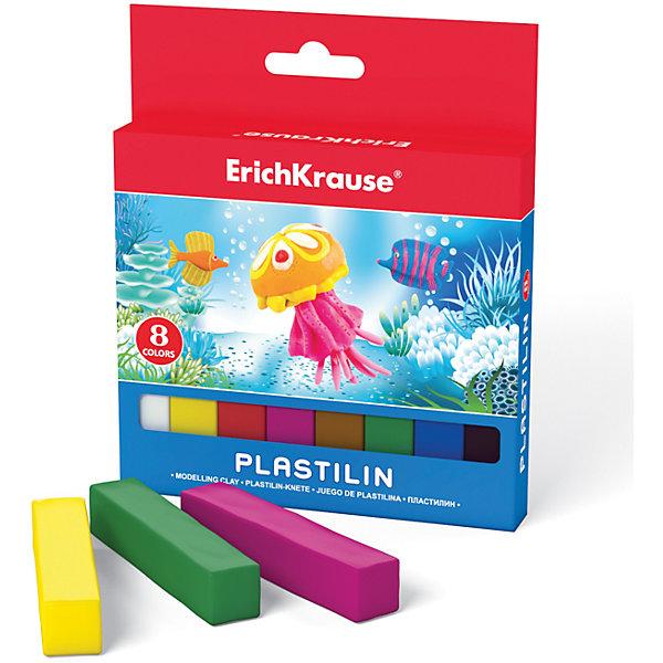 Пластилин 8 цветов, 120гПластилин<br>Пластилин 8 цветов, 120г.<br><br>Характеристики:<br><br>• В набор входит: 8 брусочков<br>• Размер упаковки: 13 * 1,4 * 11 см.<br>• Вес: 120 г.<br>• Для детей в возрасте: от 3-х лет<br>• Страна производитель: Китай<br><br>Восемь ярких цветных брусочков пластилина изготовлены из безопасных для детей материалов и уже готовы к лепке. Насыщенные цвета почти не оставляют следов на руках и могут перемешиваться между собой. Поделки из разных цветов отлично прикрепляются друг к другу. Работая с пластилином вы можете делать объемные фигурки, а также можете наносить пластилин на бумагу, картон или даже стекло, чтобы выполнять новые картины или даже фрески. <br><br>В набор входят основные восемь цветов, которые помогут создать множество поделок. Занимаясь лепкой дети развивают моторику рук, творческие способности, восприятие цветов и их сочетаний, а также лепка благотворно влияет на развитие речи, координацию движений, память и логическое мышление. Лепка всей семьей поможет весело и пользой провести время!<br><br>Пластилин 8 цветов, 120г. можно купить в нашем интернет-магазине.<br>Ширина мм: 107; Глубина мм: 127; Высота мм: 14; Вес г: 137; Возраст от месяцев: 60; Возраст до месяцев: 216; Пол: Унисекс; Возраст: Детский; SKU: 5409288;