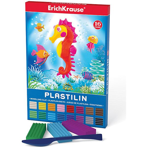 Пластилин 16 цветов, 288г, со стекомПластилин<br>Пластилин 16 цветов, 288г, со стеком<br><br>Характеристики:<br><br>• В набор входит: 16 брусочков пластилина, лопаточка-стек<br>• Размер упаковки: 22 * 1,7 * 16 см.<br>• Вес: 350 г.<br>• Для детей в возрасте: от 3-х лет<br>• Страна производитель: Китай<br><br>Шестнадцать ярких цветных брусочков пластилина изготовлены из безопасных для детей материалов и уже готовы к лепке. В набор входит лопаточка для пластилина, с ней вы сможете разрезать пластилин, делать его плоским или рифленым. Насыщенные цвета пластилина почти не оставляют следов на руках и могут перемешиваться между собой. Поделки из разных цветов отлично прикрепляются друг к другу. Работая с пластилином вы можете делать объемные фигурки, а также можете наносить пластилин на бумагу, картон или даже стекло, чтобы выполнять новые картины или даже фрески. <br><br>В набор входят целых шестнадцать цветов, которые помогут создать настоящие шедевры. Занимаясь лепкой дети развивают моторику рук, творческие способности, восприятие цветов и их сочетаний, а также лепка благотворно влияет на развитие речи, координацию движений, память и логическое мышление. Лепка всей семьей поможет весело и пользой провести время!<br><br>Пластилин 16 цветов, 288г, со стеком можно купить в нашем интернет-магазине.<br>Ширина мм: 149; Глубина мм: 220; Высота мм: 17; Вес г: 349; Возраст от месяцев: 60; Возраст до месяцев: 216; Пол: Унисекс; Возраст: Детский; SKU: 5409291;