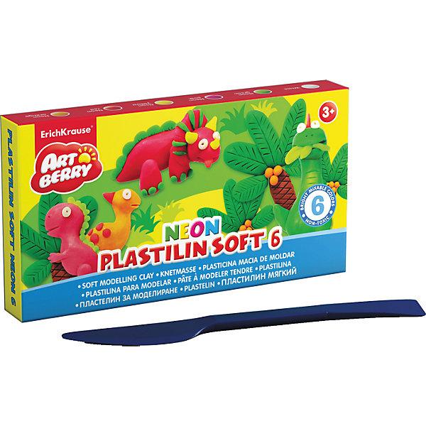 Пластилин мягкий Artberry NEON 6 цветов, 120г, со стекомПластилин<br>Характеристики товара:<br><br>• материал упаковки: картон<br>• в комплект входит: пластилин, стек<br>• количество цветов: 12<br>• возраст: от 3 лет<br>• габариты упаковки: 14х14х1,8 см<br>• вес: 273 г<br>• страна производитель: Россия<br><br>Лепка из мягкого пластилина – полезное и очень увлекательное занятие для детей любого возраста. Лепка развивает мелкую моторику у малыша и творческие способности. Лепить можно самостоятельно и вместе со взрослыми. Пластилин не токсичен.<br><br>Пластилин мягкий Artberry NEON 12 цветов, 240г, со стеком можно купить в нашем интернет-магазине.<br>Ширина мм: 105; Глубина мм: 75; Высота мм: 45; Вес г: 139; Возраст от месяцев: 36; Возраст до месяцев: 2147483647; Пол: Унисекс; Возраст: Детский; SKU: 5409317;