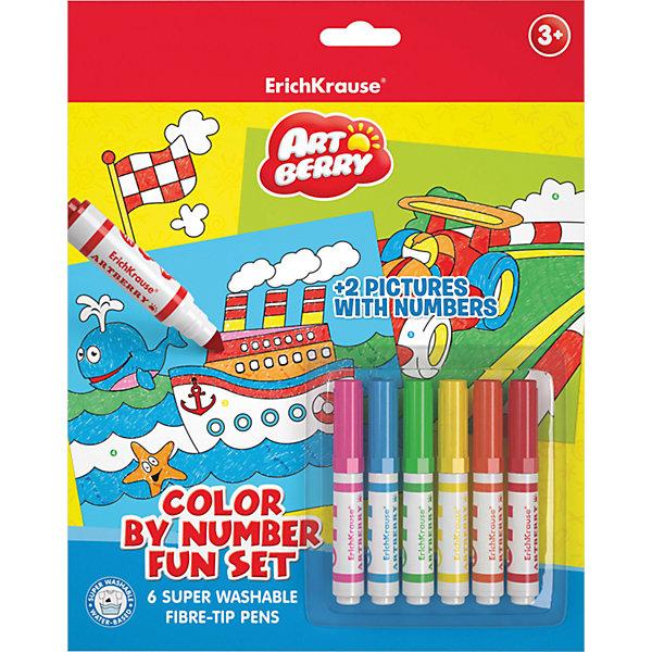 Набор для раскрашивания по номерам для мальчиков, ArtBerryНаборы для рисования<br>Набор для раскрашивания по номерам для мальчиков, ArtBerry<br><br>Характеристики:<br><br>• В набор входит: 2 раскраски, 6 фломастеров<br>• Размер упаковки: 29 * 1,5 * 23 см.<br>• Вес: 167 г.<br>• Для детей в возрасте: от 3 до 5 лет<br>• Страна производитель: Россия<br><br>Безопасные фломастеры на водной основе отлично смываются с рук и одежды. Они ярко рисуют без сильного нажима и легко помещаются в руку. Рисуя с раскрасками дети развивают моторику рук, творческие способности, учатся подбирать цветовую гамму. Дети запоминают формы, учатся как правильно рисовать фигуры, улучшают внимание, усидчивость, терпение, аккуратность и концентрацию. Выполняя каждую раскраску растёт и самооценка ребёнка, так как он сам справился с работой и довёл её до конца.<br><br>Набор для раскрашивания по номерам для мальчиков, ArtBerry можно купить в нашем интернет-магазине.<br>Ширина мм: 230; Глубина мм: 290; Высота мм: 15; Вес г: 167; Возраст от месяцев: 60; Возраст до месяцев: 216; Пол: Мужской; Возраст: Детский; SKU: 5409348;