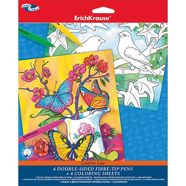 Erich Krause Набор дляраскрашивания для девочек Creative line, Erich Krause цена