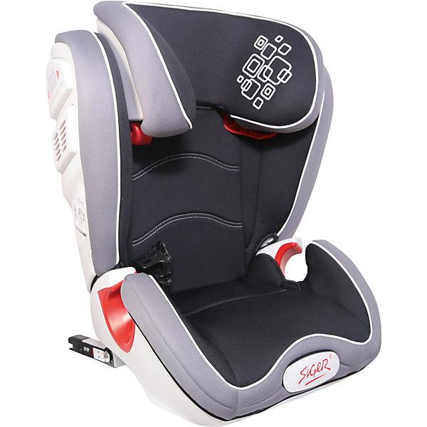 Автокресло Siger Олимп FIX 15-36 кг, черныйГруппа 2-3  (от 15 до 36 кг)<br>Характеристики:<br><br>• группа: 2/3;<br>• вес ребенка: 15-36 кг;<br>• возраст ребенка: от 3 до 12 лет;<br>• способ крепления: Isofix;<br>• способ установки: по ходу движения автомобиля;<br>• усиленный каркас;<br>• подголовник регулируется по высоте;<br>• анатомическая форма кресла;<br>• посадочное место увеличено;<br>• имеется специальный фиксатор, который контролирует прохождение ремня;<br>• дополнительная защита от боковых ударов;<br>• перфорированная ткань в области спины;<br>• чехол снимается и стирается при температуре 30 градусов;<br>• материал: пластик, полиэстер;<br>• размер автокресла: 43,3х51,7х63,4 см;<br>• вес автокресла: 8,3 кг.<br><br>Автокресло группы 2-3 предназначено для детей в возрасте от 3 до 12 лет. Автокресло устанавливается на заднем сидении автомобиля лицом по ходу движения автомобиля, крепится с помощью системы Изофикс. Анатомическая форма кресла, увеличенное посадочное место, дополнительная защита в области головы и шеи. Подголовник регулируется - высота подбирается в зависимости от роста ребенка. <br><br>Автокресло Олимп FIX 15-36 кг., SIGER, цвет черный можно купить в нашем интернет-магазине.<br>Ширина мм: 430; Глубина мм: 511; Высота мм: 631; Вес г: 8300; Возраст от месяцев: 36; Возраст до месяцев: 144; Пол: Унисекс; Возраст: Детский; SKU: 5409378;