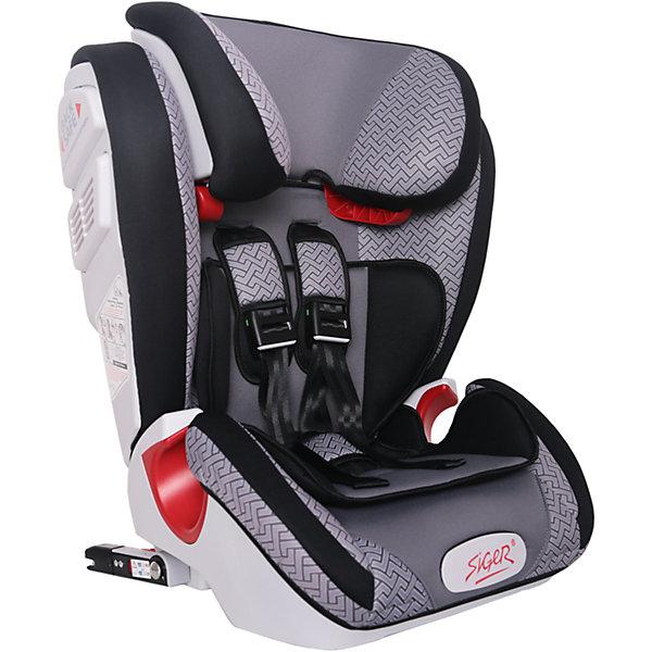 Автокресло Siger Индиго Art Isofix 9-36 кг, серый лабиринтГруппа 1-2-3  (от 9 до 36 кг)<br>Характеристики:<br><br>• группа: 1/2/3;<br>• вес ребенка: 9-36 кг;<br>• возраст ребенка: от 1 года до 12 лет;<br>• способ крепления: Isofix;<br>• способ установки: по ходу движения автомобиля;<br>• 5-ти точечные ремни безопасности, регулируются по длине и высоте;<br>• анатомическая форма кресла;<br>• вкладыш для годовалого ребенка;<br>• регулируемый по высоте подголовник;<br>• усиленная защита от боковых ударов;<br>• чехол снимается и стирается при температуре 30 градусов;<br>• материал: пластик, полиэстер;<br>• размер автокресла: 51х43,3х63,4 см;<br>• вес автокресла: 8,3 кг.<br><br>Автокресло группы 1-2-3 предназначено для детей в возрасте от года до 12 лет. Автокресло устанавливается на заднем сидении автомобиля лицом по ходу движения автомобиля, крепится с помощью системы Изофикс. Кресло универсальное: и годовалому крохе будет уютно в кресле, и подросток будет чувствовать себя комфортно – благодаря анатомической форме кресельной чаши, широким боковинам, регулируемому подголовнику, вкладышу для малышей. <br><br>Автокресло Индиго Art Isofix 9-36 кг., SIGER, серый лабиринт можно купить в нашем интернет-магазине.<br>Ширина мм: 430; Глубина мм: 511; Высота мм: 631; Вес г: 8300; Возраст от месяцев: 12; Возраст до месяцев: 144; Пол: Унисекс; Возраст: Детский; SKU: 5409382;
