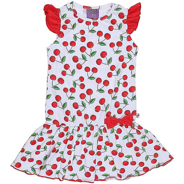 Платье для девочки Sweet BerryЛетние платья и сарафаны<br>Яркое трикотажное платье для девочки из принтованной ткани. Низ изделия декорирован воланом и ярким бантиком.<br>Состав:<br>95%хлопок 5%эластан<br>Ширина мм: 236; Глубина мм: 16; Высота мм: 184; Вес г: 177; Цвет: белый; Возраст от месяцев: 24; Возраст до месяцев: 36; Пол: Женский; Возраст: Детский; Размер: 98,104,128,122,116,110; SKU: 5410052;