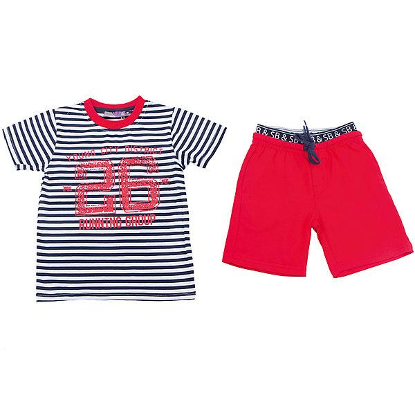 Sweet Berry Комплект: футболка и шорты для мальчика Sweet Berry футболки и топы sweet berry футболка для девочек русалочка 814109