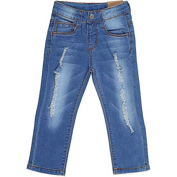 Джинсы для девочки Sweet BerryДжинсы<br>Джинсы  для девочки из хлопковой ткани, декорированы потертостями и эффектом рванной джинсы. Зауженный крой, средняя посадка. Застегиваются на молнию и крючок. Шлевки на поясе рассчитаны под ремень. В боковой части пояса находятся вшитые эластичные ленты, регулирующие посадку по талии.<br>Состав:<br>98%хлопок 2%эластан<br>Ширина мм: 215; Глубина мм: 88; Высота мм: 191; Вес г: 336; Цвет: синий; Возраст от месяцев: 12; Возраст до месяцев: 18; Пол: Женский; Возраст: Детский; Размер: 86,80,98,92; SKU: 5411120;