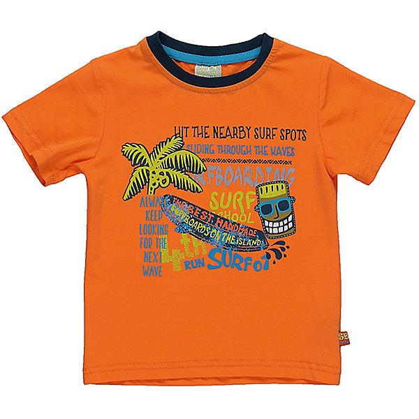 Футболка для мальчика Sweet BerryФутболки, топы<br>Летняя оранжевая футболка с однотонной спинкой, контрастной окантовкой и ярким принтом впереди. Рисунок летней тематики идеально дополняет дизайн изделия.<br>Состав:<br>95%хлопок 5%эластан<br>Ширина мм: 199; Глубина мм: 10; Высота мм: 161; Вес г: 151; Цвет: оранжевый; Возраст от месяцев: 12; Возраст до месяцев: 15; Пол: Мужской; Возраст: Детский; Размер: 80,86,98,92; SKU: 5411506;