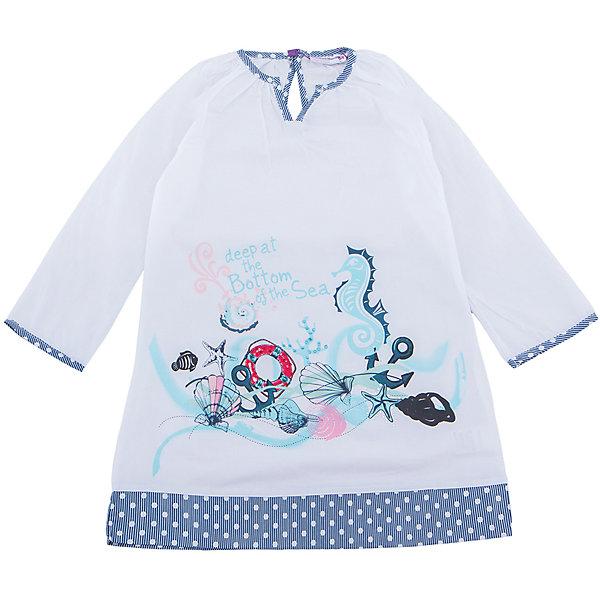Платье для девочки Sweet BerryЛетние платья и сарафаны<br>Хлопковое платье-туника для жаркого лета.  Декорированно оригинальным принтом и контрастной отделкой горловины и низа изделия.<br>Состав:<br>100% хлопок<br>Ширина мм: 236; Глубина мм: 16; Высота мм: 184; Вес г: 177; Цвет: белый; Возраст от месяцев: 84; Возраст до месяцев: 96; Пол: Женский; Возраст: Детский; Размер: 128,110,104,140,116; SKU: 5412072;