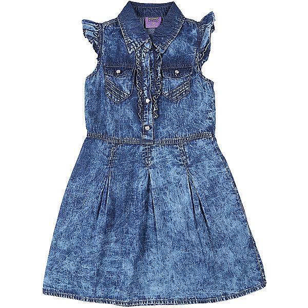 Платье джинсовое для девочки Sweet BerryДжинсовая одежда<br>Текстильное платье для девочки из тонкой хлопковой ткани под джинсу. Два накладных кармана, отложенный воротничок. Застежка - кнопки.<br>Состав:<br>100%хлопок<br>Ширина мм: 236; Глубина мм: 16; Высота мм: 184; Вес г: 177; Цвет: синий; Возраст от месяцев: 48; Возраст до месяцев: 60; Пол: Женский; Возраст: Детский; Размер: 110,122,116,98,104,128; SKU: 5412148;