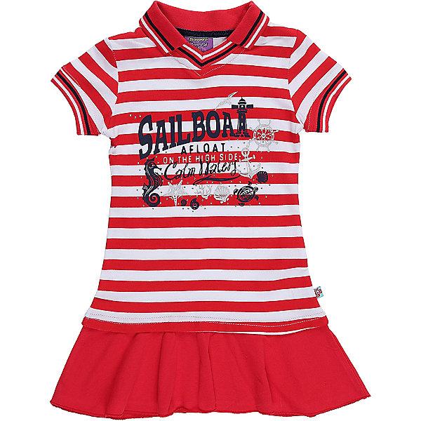 Платье для девочки Sweet BerryЛетние платья и сарафаны<br>Трикотажное платье для девочки с воротником-поло в полоску. Декорировано принтом и воланом по низу изделия.<br>Состав:<br>100%хлопок<br>Ширина мм: 236; Глубина мм: 16; Высота мм: 184; Вес г: 177; Цвет: белый; Возраст от месяцев: 24; Возраст до месяцев: 36; Пол: Женский; Возраст: Детский; Размер: 98,104,128,122,116,110; SKU: 5412162;