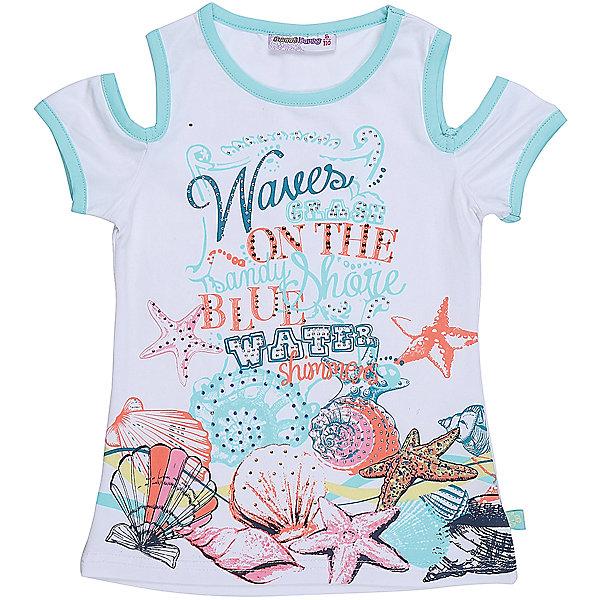Футболка для девочки Sweet BerryФутболки, поло и топы<br>Стильная футболка из трикотажной, мягкой ткани для девочки с коротким рукавом. Декорирована оригинальным принтом.<br>Состав:<br>95%хлопок 5%эластан<br>Ширина мм: 199; Глубина мм: 10; Высота мм: 161; Вес г: 151; Цвет: белый; Возраст от месяцев: 24; Возраст до месяцев: 36; Пол: Женский; Возраст: Детский; Размер: 98,128,122,116,110,104; SKU: 5412661;