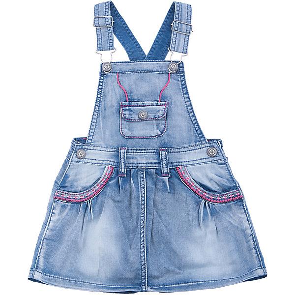 Сарафан джинсовый для девочки Sweet BerryДжинсовая одежда<br>Джинсовый сарафан на регулируемых бретелях. Карманы декорированы разноцветной вышивкой.<br>Состав:<br>100%хлопок<br>Ширина мм: 236; Глубина мм: 16; Высота мм: 184; Вес г: 177; Цвет: голубой; Возраст от месяцев: 84; Возраст до месяцев: 96; Пол: Женский; Возраст: Детский; Размер: 128,122,116,110,98,104; SKU: 5412755;