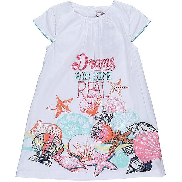 Платье для девочки Sweet BerryПлатья и сарафаны<br>Легкое, хлопковое платье для девочки свободного кроя. Декарированно оригинальным принтом. Застегивается на пуговки на спинке.<br>Состав:<br>Верх: 100% хлопок, Подкладка: 100%хлопок<br>Ширина мм: 236; Глубина мм: 16; Высота мм: 184; Вес г: 177; Цвет: белый; Возраст от месяцев: 24; Возраст до месяцев: 36; Пол: Женский; Возраст: Детский; Размер: 98,104,128,122,116,110; SKU: 5412762;